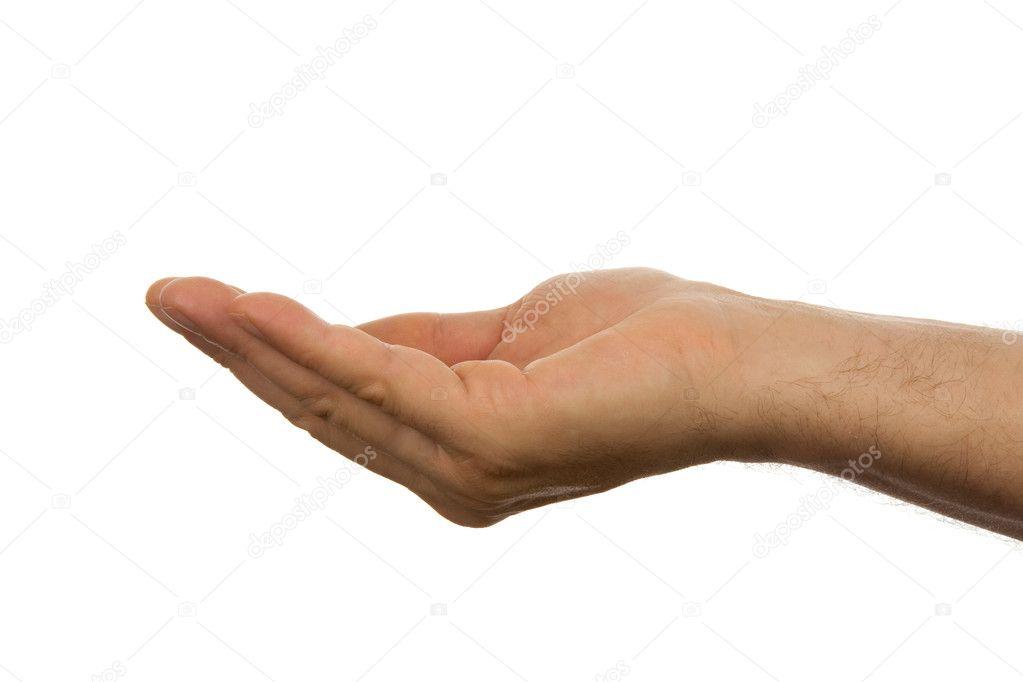 Open empty male hand