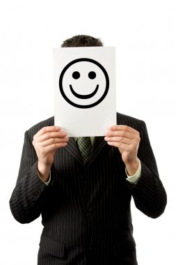 Businessman with smilie