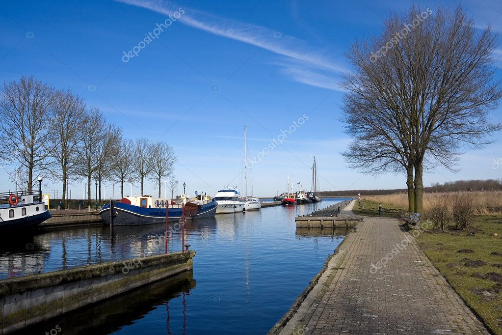 Harbor in the Netherlands