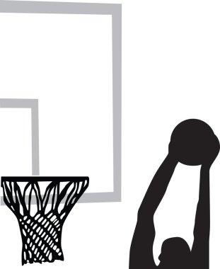 Basketball player silhouette vector