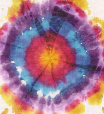 Batik circle white background