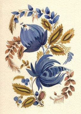 Russian traditional flower pattern