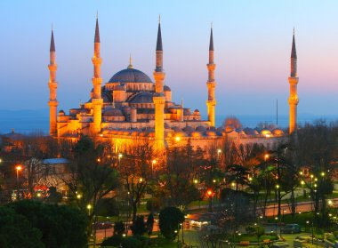 Sultan Ahmet Blue Mosque Dusk