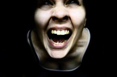 Weird creepy woman