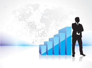Success businessman silhouette
