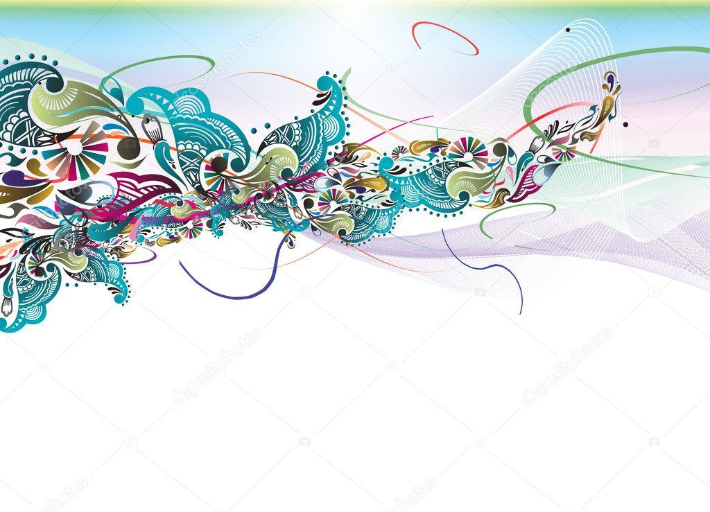 Floral rainbow color design