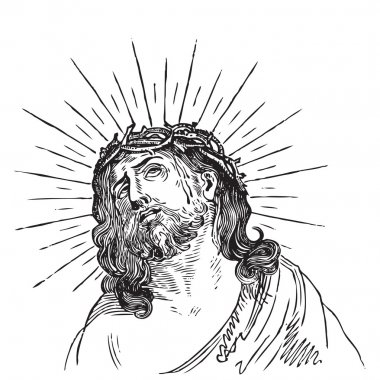 Jesus Christ engraving (vector)