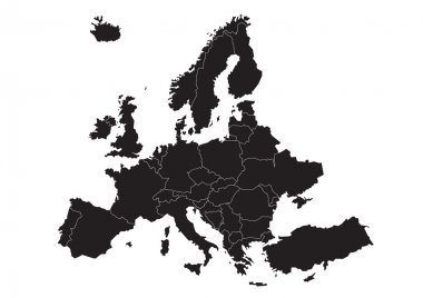 Map of Europe (vector)