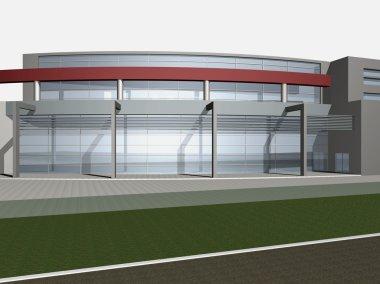3d render of Business center