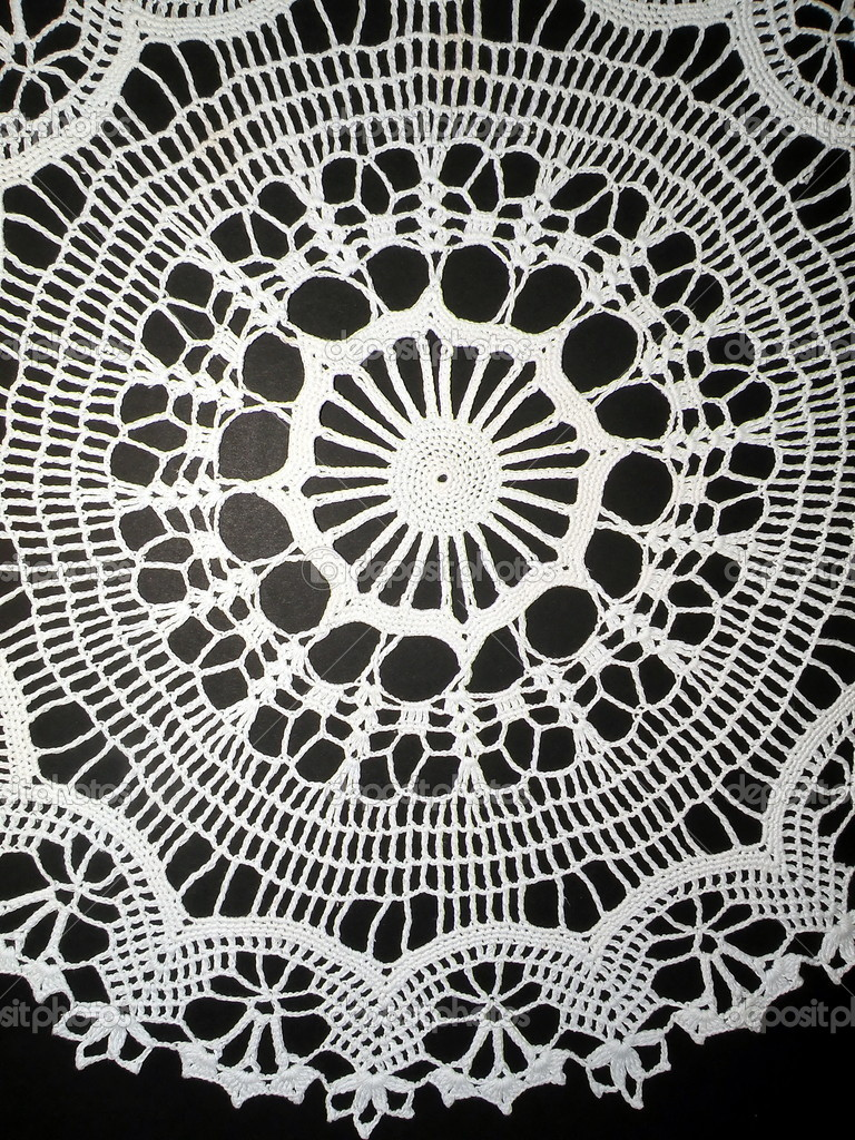 tapete de crochet blanco — Fotos de Stock © Andriuss #2268006