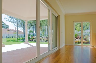 Empty room with garden view