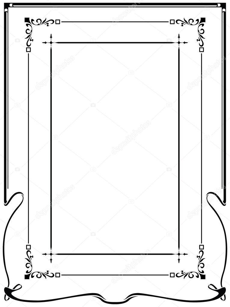Framework art-nouveau
