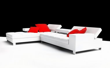 Furniture on a white background