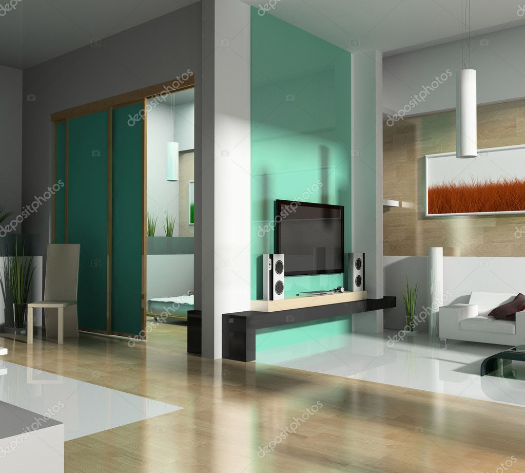 Sala Verde Stock Photo Kash76 2219270 -> Sala De Tv Verde