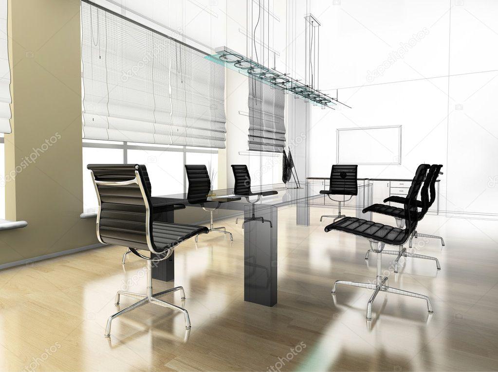 modern interior office stock. Modern Interior Of Office \u2014 Stock Photo
