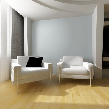 White drawing room
