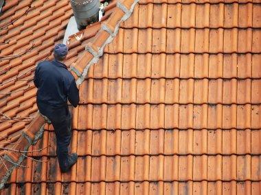 Roofer doing repair