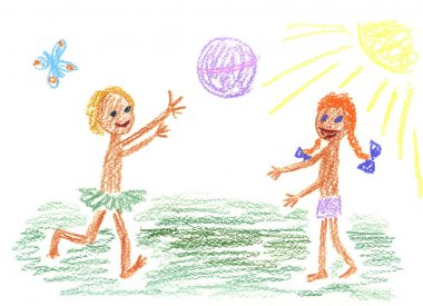 Children and ball