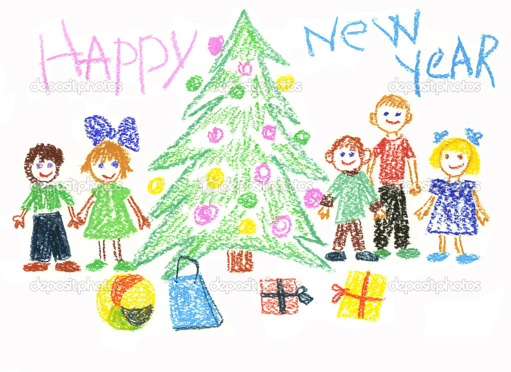 Children celebrate New Year