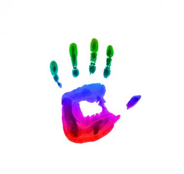 Colored handprint