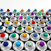 Colorful nozzles from aerosol cans