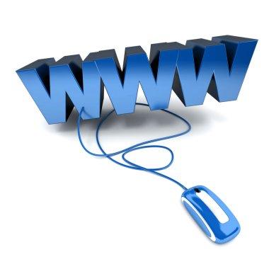 World Wide Web in blue