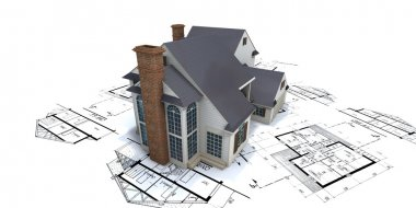 Residential house architect blueprints