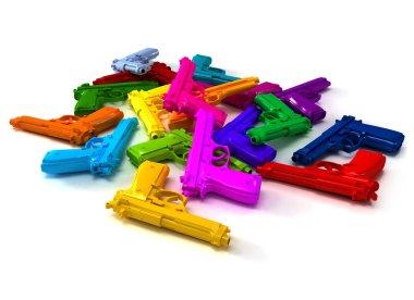 Colorful guns