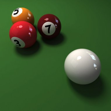 Four billiard balls