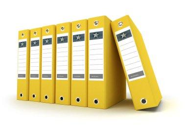 Yellow ring binders