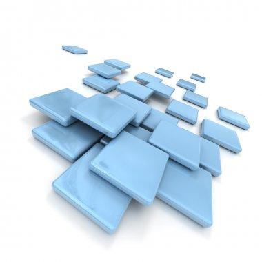 Pale blue ceramic tiles