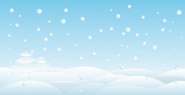 Snow backround