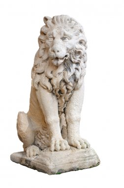Venetian lion statue, isolated on white