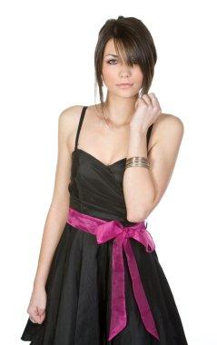Pretty Teenager in Black Dress