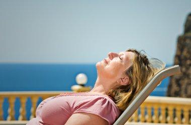 Senior Lady Sunbathing