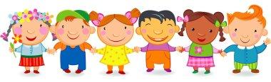 Kids holding hands.