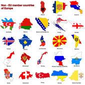 Fotografia non - UE paesi bandiera mappe