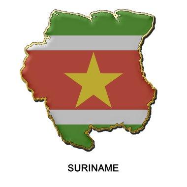 Suriname metal pin badge
