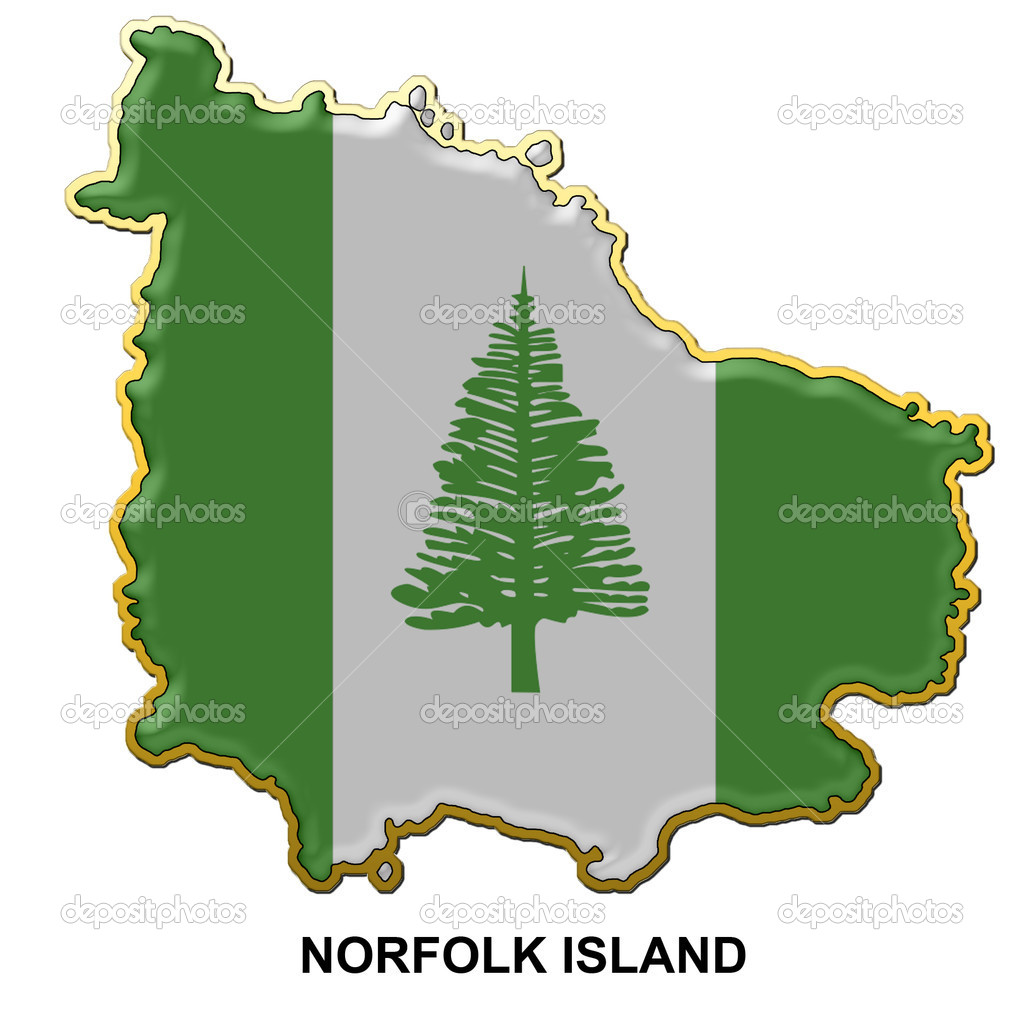 Norfolk Island metal pin badge Stock Photo Tonygers 2299240