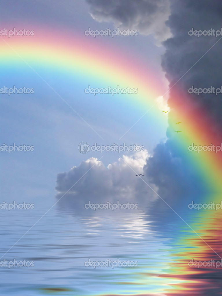 Rainbow reflection