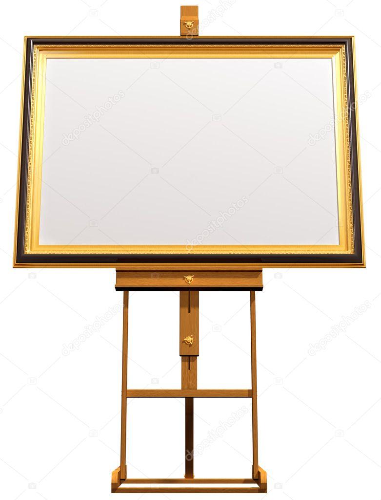 leeres Bild auf Künstler Staffelei — Stockfoto © paulfleet #2213444