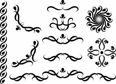 Set of decor motifs, element design clip art vector