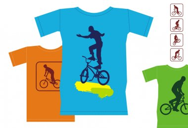 T-shirts with bicyclists 1