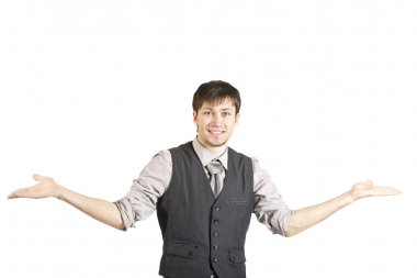 Young Businessman Shrugging His Shoulde