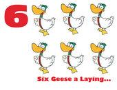 číslo šest husy vejce
