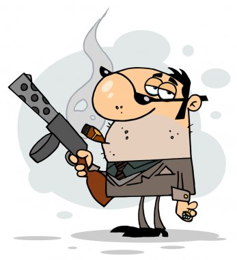 Cartoon Character Mobster