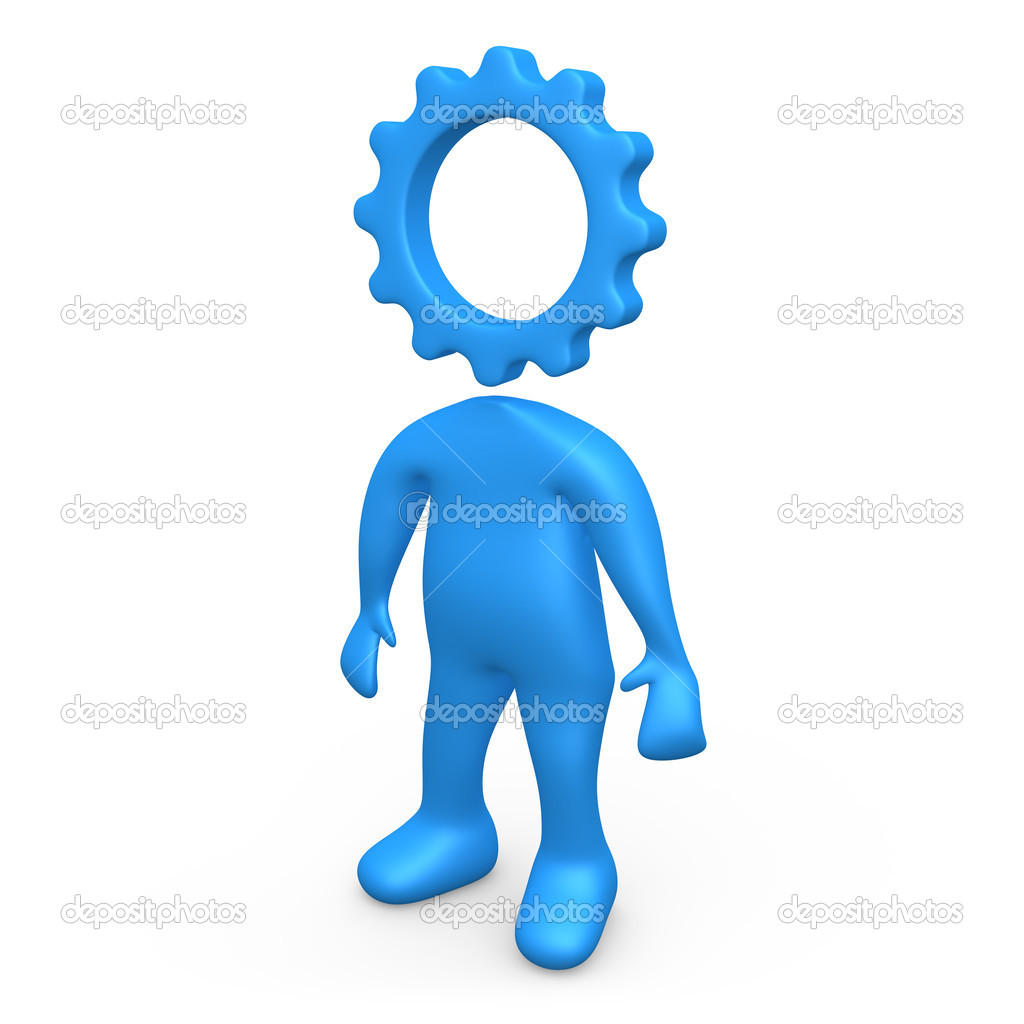 Computer generated image - Cog Person .