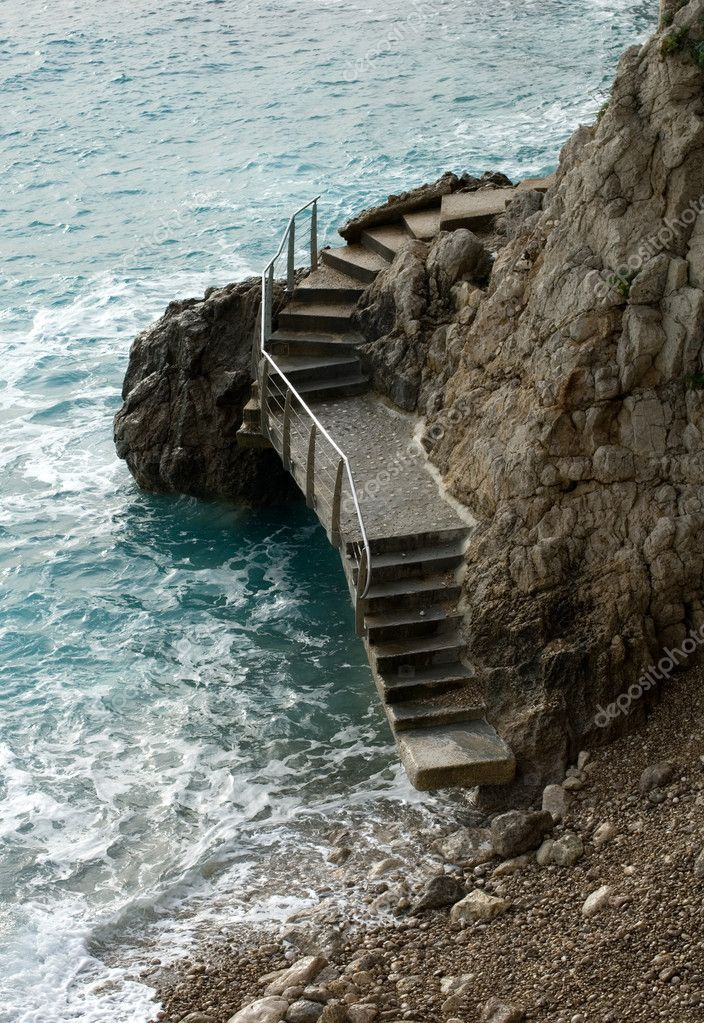 Staircase Over the Rocks