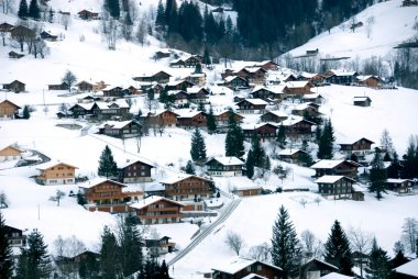 Chalets in the Snow