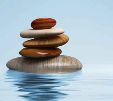Wood stones relax